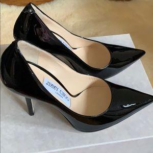 Jimmy Choo Love 100 Black Pat 247 Heels